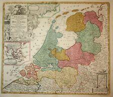1720 Holland Netherlands Niederlande Batavia Amsterdam map Karte Homann