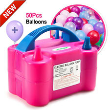 Rose Red Portable Dual Electric Balloon Pump Portable Latex Balloon Inflator Air