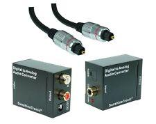 SunshineTronic Digital zu Analog Audio Konverter + 1m Toslink(07) + USB-DC Kabel
