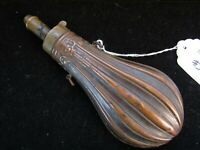 Vintage Brass Powder Flask ( 8 inch )  Unique Design