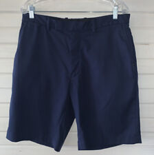 RLX RALPH LAUREN Sz 34 Mens Navy Blue Golf Shorts Chino Casual Performance EUC