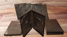 Lot of 10 Empty BLACK Standard Storage Cases  CD DVD Replacement