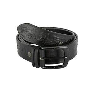 FLORAL EMBOSSED LUXURY REAL LEATHER BELT 40MM XS,S,M,L,XL, XXL Fashion Belt