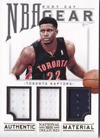 2012-13 Panini National Treasures NBA Gear Trios #20 Rudy Gay Jersey #/99
