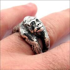 3D Silver Gorilla Ring Size 6 New Fashion Men Women Lucky Love Jewelry