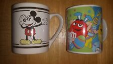 Mickey Mouse Mug And M&M Mug, Both Great Condition, Listing Is For Both Mugs