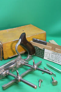 Stanley No50s Combination Plane VGC Boxed Plow Plane, all original accessories