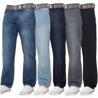 New Kruze Mens Jeans Straight Leg Denim Pants All Waist Legs Big Tall King Sizes