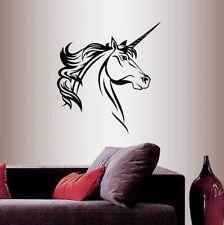Vinyl Decal Magic Unicorn Horse Head Kids Girls Nursery Room Wall Sticker 1907