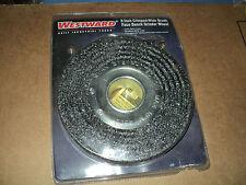 """Westward 1Gbt4 Arbor Wire Wheel Brush, Crimped Wire, 8"""" Brush Dia."""