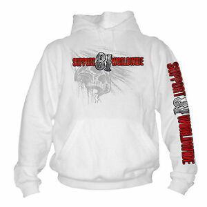 Kapuzensweat Hells Angels 1% Harley Support 81 Red&White Big Red Machine MC S-XL
