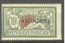 "ANDORRE STAMP TIMBRE N° 22 "" MERSON 10F VERT ET ROUGE 1931 "" NEUF xx TB"