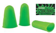 GREEN NoGoo® Fingertips Food Grade Silcone NonStick finger tips - PACK OF THREE