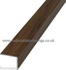 Attractive 30x25mm Walnut Stair Nosing Step Edging In Aluminium For Laminate U0026 Wood  Floors