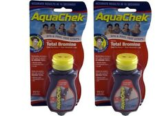 Aquachek Red Pool Spa Bromine 50 Test Strips 2 pack