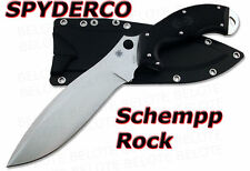 Spyderco Schempp ROCK Fixed + Sheath NUMBERED FB20FPBK