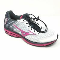 Women's Mizuno Wave Rider 18 Shoes Sneakers Size 11 Running Pink Black White V11