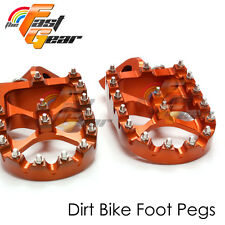 Dirt CNC Orange Rider Foot Pegs Fit KTM SX/EXC 450 07 08 09 10 11 12 13 14