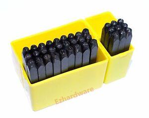 Letter & Number 36pc Stamp Punch Set 3mm-4mm-5mm-6mm-8mm-10mm Hardened Steel