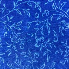 "Blue Mini Floral Quilting Fabric Tone on Tone 3 1/3 Yards x 44"" Cotton J4"