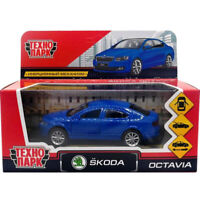 Diecast Car Scale 1:36 Car Skoda Octavia Blue Russian Model Toy Car