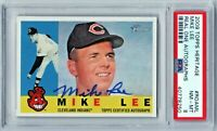 2009 Topps Heritage Real One Autograph Mike Lee Cleveland Indians PSA 8