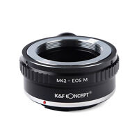 K&F Concept Camera Lens Mount Adapter M42 42mm Screw Mount Lens to Canon EOS M