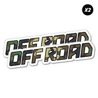 2X Off Road Sticker Decal 4x4 4WD Funny Ute #6119EN