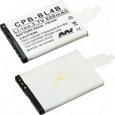 3.7V 800mAh Replacement Battery Compatible with Nokia BL-4B
