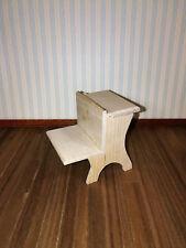 Dollhouse  Miniature Unfinished Vintage Style School Desk 1:12 Scale