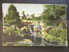 Waterfall in Stephens Green Dublin Ireland Real Picture Postcard Cover