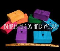"30 1 1//4/"" X 1 1//4/'/' X 1//4/'/' COLORED WOOD BLOCKS 1//4/'/' HOLE Bird Toy Parts"