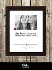 Mejor Amigo Personalizado Impreso, cumpleaños, amistad citar, impresión Fotográfica A4 impresión