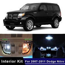 8x LED White Car Map Dome Lights Interior Package Kit For 2007-2011 Dodge Nitro