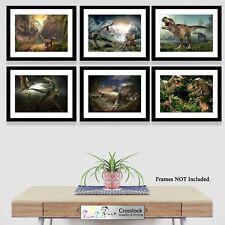 Jurassic Dinosaur Park Theme Photo Poster Print ONLY Wall Art A4 Prints 6 types