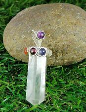 Natural 7 Chakra Crystal Pointed Pencil Yoga,Meditation Handmade Pendant