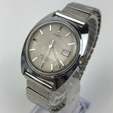 Vintage 1975 Timex Automatic Day Gray Dial Men's watch 47550 03275 Case 34mm