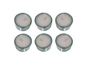 6 Stück TEELICHTHALTER aus Glas mit 6 TEELICHTERN