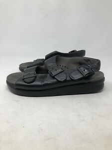 SAS Tripad Comfort Relaxed Women's Black Leather Strappy Sandals Size 6.5 M