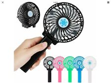 Black Portable USB Mini Fan Outdoor Cooling Hand-Held Travel Air Fan +Battery
