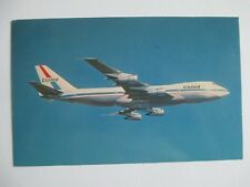 Postcard United Airlines 747 Fly The Friendly Skies of United