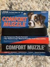 Dog Grooming Training No Bark No Bite Comfort Easy Fit Adjustable Muzzle Large