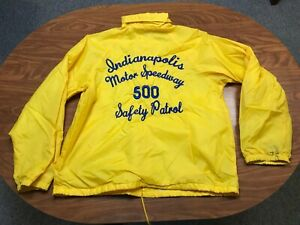 MEN VINTAGE INDIANAPOLIS MOTOR SPEEDWAY INDY 500 SAFETY PATROL JACKET SIZE LARGE