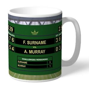 Personalised TENNIS Final Mug Fan Gift Opponent's & Recipient's Name Added