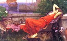 Pre-Raphaelite Art: ARIADNE (Waterhouse) 12x7 print