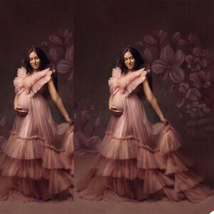 Women Maternity Sleepwear Robe Dresses Pregnant Gown Photo Shoot Photograph