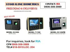Biometrics fingerprint scanner face scan RFID with payroll time record keeping