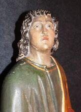 Skulptur 89 cm Barock Figur Holz Johannes Evangelist Jünger Jesus Kreuz   * 5229