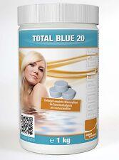 Total Blue 20 Multifunktionstablette 1kg für Kartuschen- und Sandfilter
