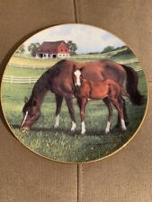 """Equestrian Horses Collectors Plate """"Morning On The Farm� Donald W. Patterson"""